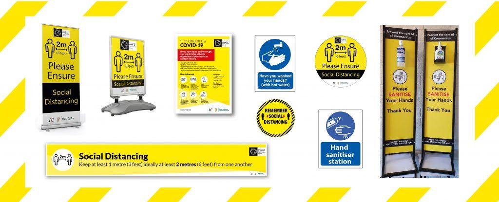 coronavirus Covid-19 safety signage