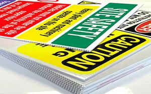printed corriboard signs